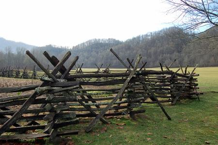 Snake Rail Fence with Cross Bracing